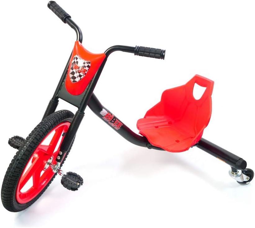 Bibee Drift Rider 360Triciclo Mixta niño, Rojo/Negro