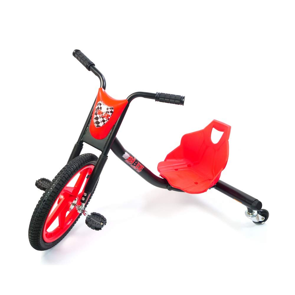 Bibee Drift Rider 360 Dreirad für Kinder, Rot Schwarz