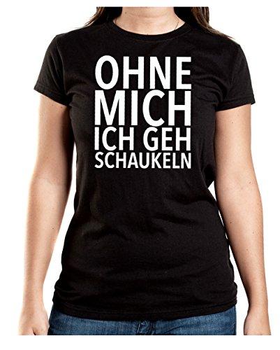 Ohne Mich Ich Geh Schaukeln T-Shirt Girls Black Certified Freak