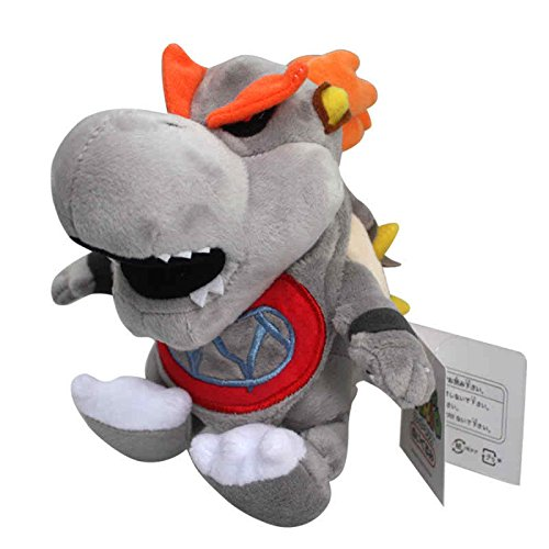 Super Mario Bros 3D Dry Bones Bowser 7 Inch Toddler Stuffed Plush Kids - Dry Bones Bowser