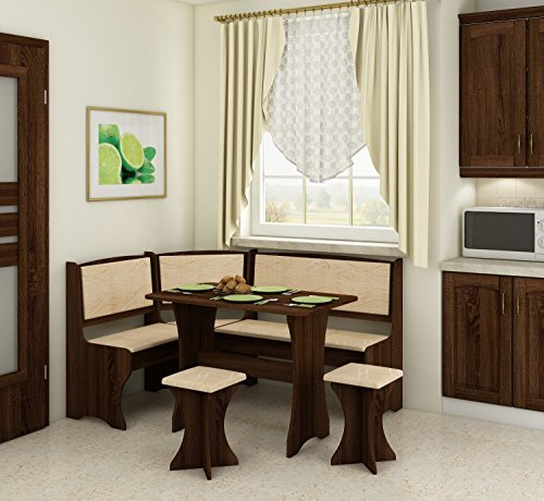 corner breakfast nook in wood