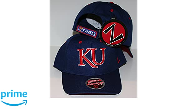 25da1ddf05a Amazon.com   ZHATS Kansas Jayhawks KU Blue Competitor Adjustable Adult  Mens Womens Hat Cap   Sports   Outdoors