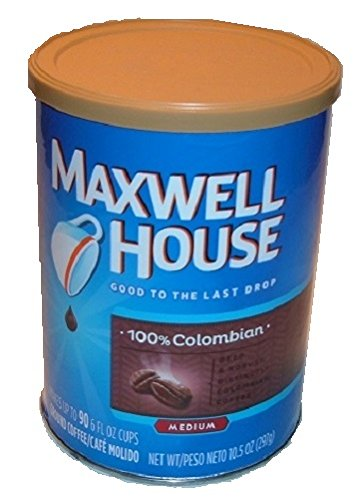 MAXWELL HOUSE COLOMBIAN COFFEE can safe stash diversion safes hide cash money PIGGY BANK