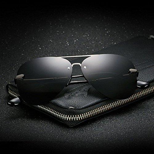 hombre gafas sin sol Color metal retro polarizadas Gafas de clásico lente Espejo montura B sol B de twqUCT