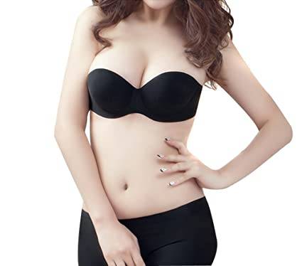 faedf1507a Fletion Push Up Self Adhesive Magic Bra Seamless Backless Strapless Stick  On Silicone Cleavage Bra Cups