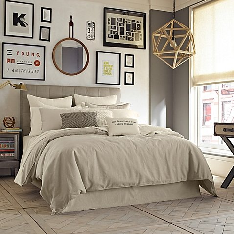 Kenneth Cole Reaction Home Mineral King Duvet Cover in Oatmeal
