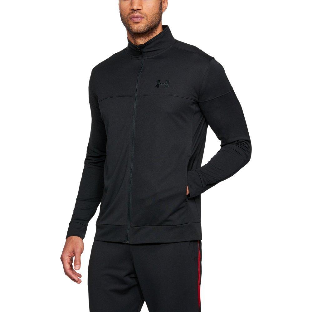 Under Armour Men's Sportstyle Pique Jacket, Black (001)/Black, Large