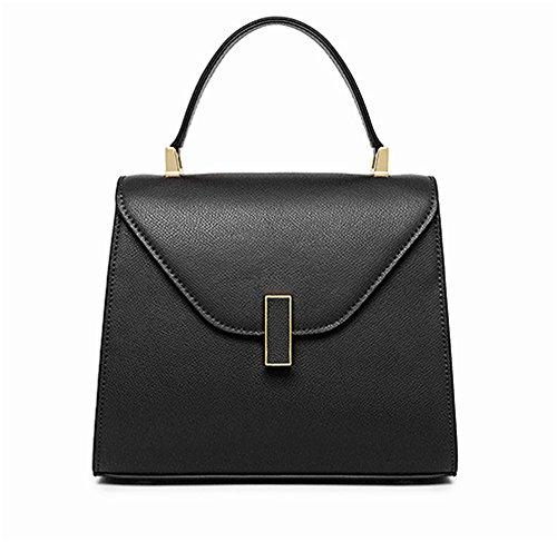 La mujer Xinmaoyuan Bolsos Bolso Estilo Palm señoras moda bolsa de bloqueo Negro