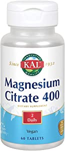 KAL 400 Mg Magnesium Tablets, Citrate, 60 Count