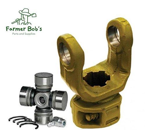 Yoke & U-Joint 1-3/8'' 6 Spline Weasler Metric B/P Series 5 (200-6580 & 102-6506) Farmer Bob's Parts 200-6580 & 102-6506