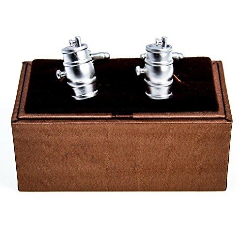 MRCUFF Keg Barrel Wine Whiskey Beer Pair Cufflinks in a Presentation Gift Box & Polishing Cloth