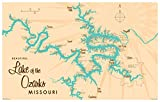 "Lake of The Ozarks Missouri Map Vintage-Style Art Print by Lakebound (12"" x 18"")."