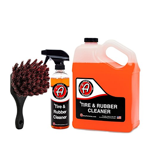 Adam's Tire & Rubber Cleaner – Removes Discoloration from Tires Quickly – Works Great on Tires, Rubber & Plastic Trim, and Rubber Floor Mats (Collection)