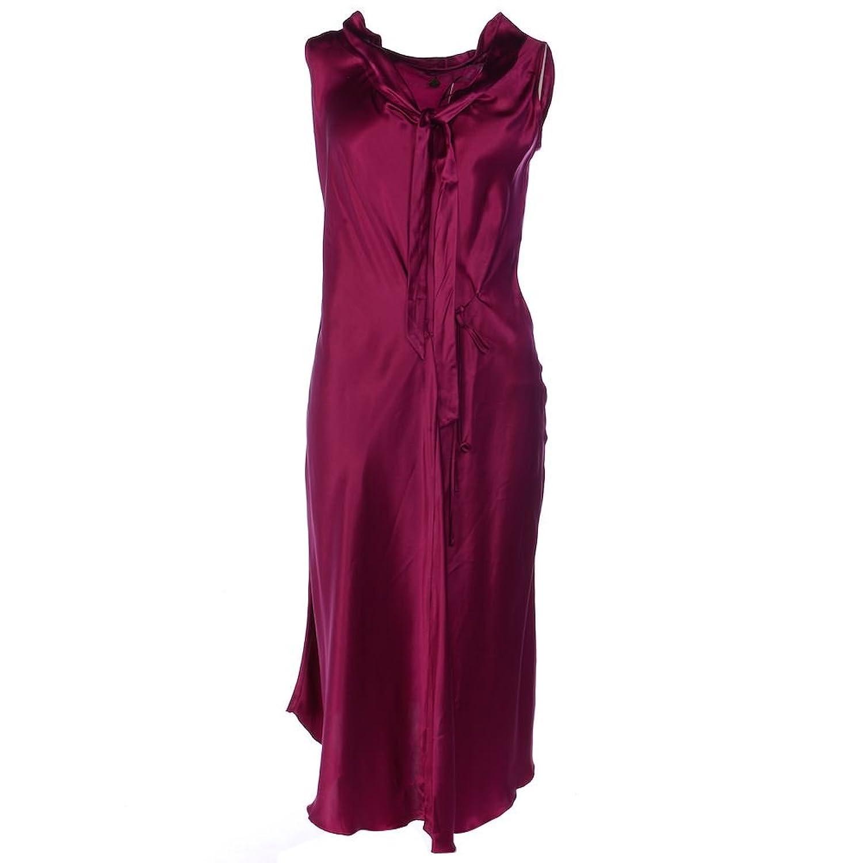 FORNARINA Dress Cerise Pink 100% Silk Below Knee