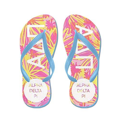Cafepress Alpha Delta Pi Roze - Flip Flops, Grappige String Sandalen, Strand Sandalen Caribbean Blue