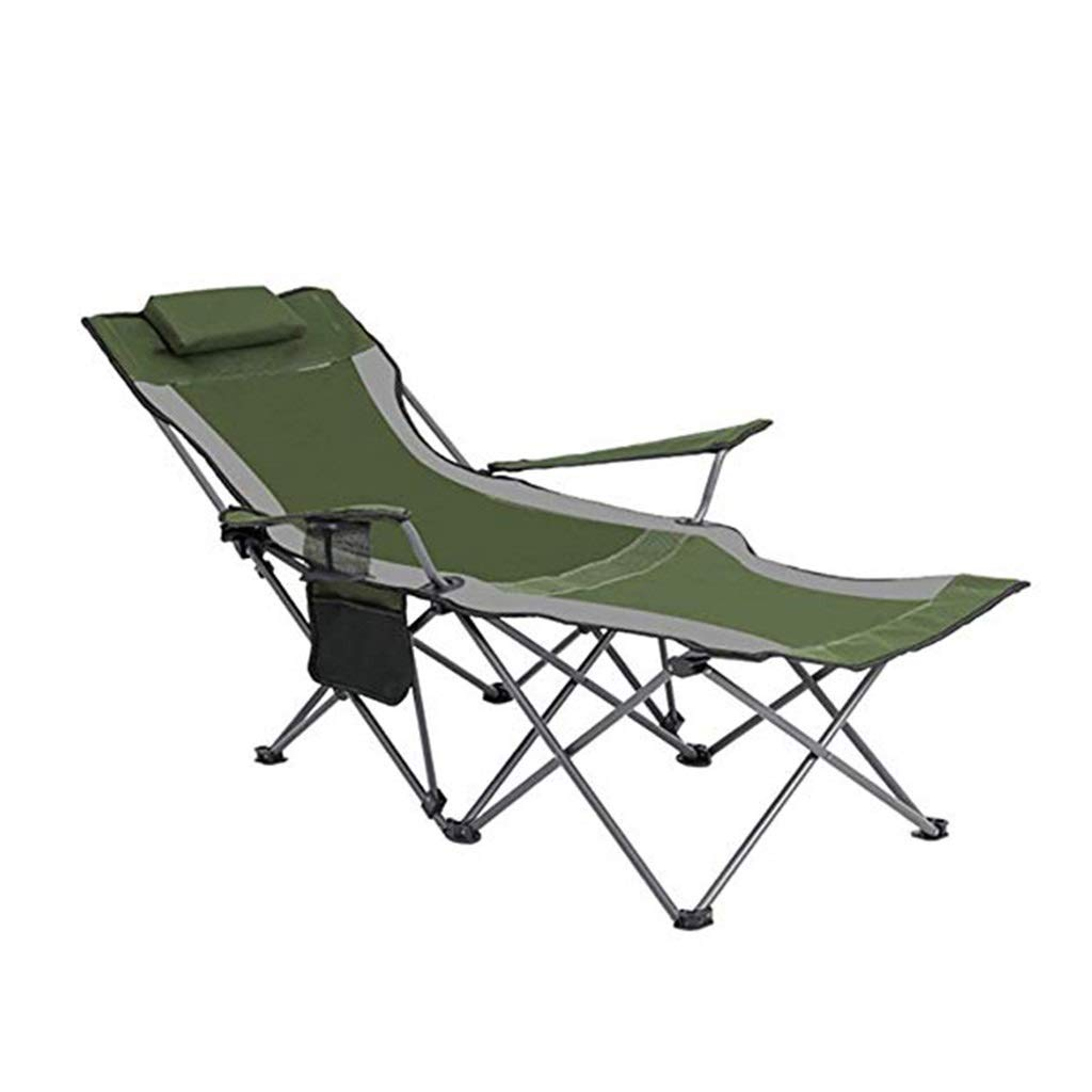 YYTLTY Camping Chairs Folding Lightweight Portable Outdoor Beach Chairs, Outdoor Recreation Recliner, Two Styles to Choose from (Color : Green) by YYTLTY
