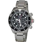 Seiko Men's SSC015P1 Chronograph Solar Power Stainless Steel Watch