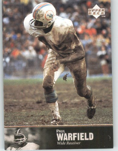 1997 Upper Deck Legends Football Card # 67 Paul Warfield - Miami Dolphins - NFL Trading Card