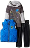 Kids Headquarters Baby Boys' Blue Vest with Twofer Tee and Jeans