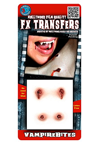 [Tinsley Transfers  Vampire Bites, Flesh/Multi, One Size] (Prosthetic Fx Makeup Halloween Masks)