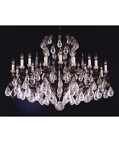 Schonbek 2492-23 Swarovski Lighting Versailles Rock Crystal Chandelier, Etruscan Gold (Gold Versailles Rock Crystal)