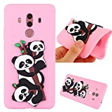 Huawei Mate 10 Pro Case, Ngift [Pink Panada] [Ultra-Thin] Flexible TPU Gel Soft Rubber Protective Case Shock-Absorption Silicone Bumper Cover for Huawei Mate 10 Pro