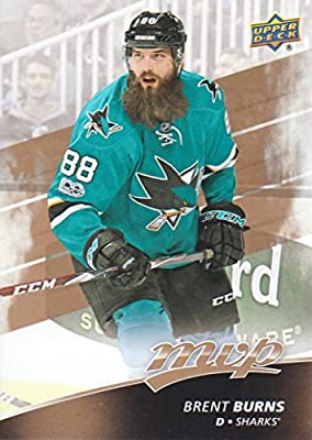 2017-18 Upper Deck MVP Hockey #174 Brent Burns San Jose Sharks