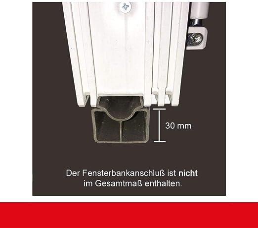 2-fl/ügliges Kunststofffenster//PVC//Wei/ß Dreh-Kipp//Dreh-Kipp Fenster mit Pfosten BxH:800x800 Glas:3-Fach