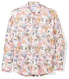 #6: 28 Palms Men's Relaxed-Fit Long-Sleeve 100% Linen Reverse Print Shirt