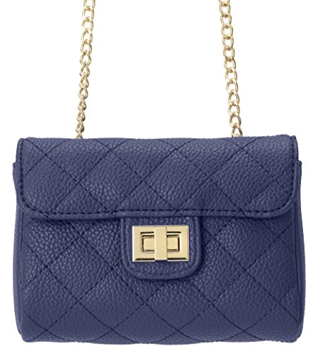 M&c Women's | Quilted Faux Leather Handbag (Dark Blue)
