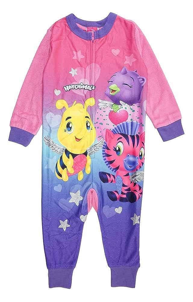 Hatchimals Little//Big Girls Fleece One-Piece Costume Pajama
