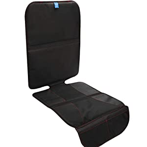 Funbliss Car Seat Protector for Baby Child Car Seats,Auto Seat Cover Mat for Under Carseat with Thickest Padding to Protect Leather & Fabric Upholstery - Waterproof and Dirt Resistant (1 Pack)