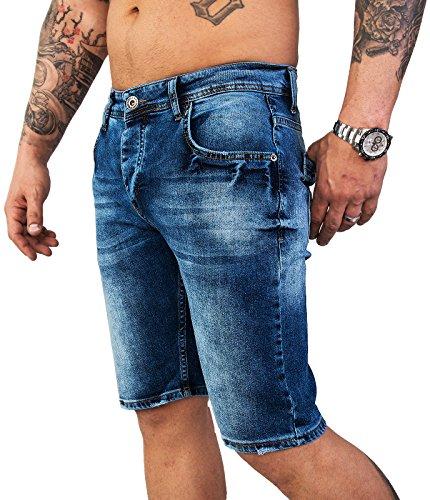 Eté Creek Rock Bleu Denim Hommes Slim Jeans M23 Shorts Stretch Shorts Regular B7xApqw0