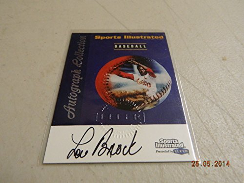 Lou Brock Auto Autograph Signed 1999 Fleer Sports Illustrated St. Louis Cardinal