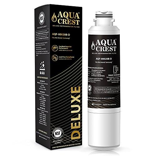 AQUACREST DA29-00020B NSF 401&53&42 Refrigerator Water Filter Replacement for Samsung DA29-00020B, DA29-00020A, HAF-CIN/EXP, 46-9101 Water Filter by AQUA CREST
