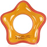 Mocoosy Inflatable Swim Ring Pool Swimming Tube for Adults Kids Luck Star Shape Swimming Floats for Beach Party (Orange,31.5'')