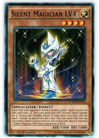 Yu-Gi-Oh! - Silent Magician LV4 (YGLD-ENC05) - Yugis Legendary Decks - 1st Edition - Common