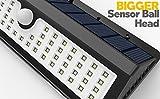 Solar Lights, Lemontec 62 LED Wall Solar Light Outdoor Security Lighting Nightlight with Motion Sensor Detector for Garden Back Door Step Stair Fence Deck Yard Driveway, 2 Pack