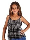 Lori&Jane Big Girls Black White Pattern Loose Fit Strap Summer Top 14