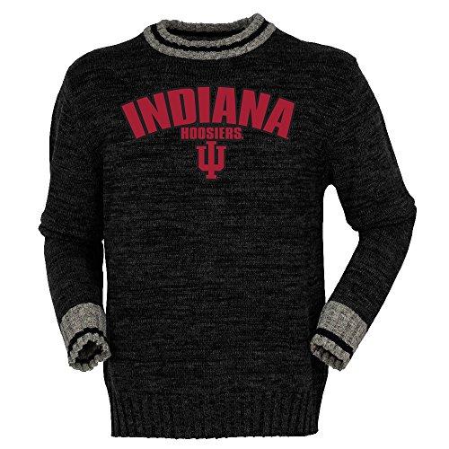 Bruzer NCAA Indiana Hoosiers Mens Work Sock Crewwork Sock Crew, Black Mix, Small