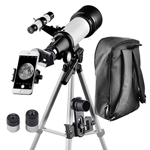 Telescope for Kids and Beginners Travel Scope 70mm Apeture 400mm AZ Mount - with Backpack to Carry Easily - Travel Telescope to View Moon and Planet (Best Telescope To View Nebula)