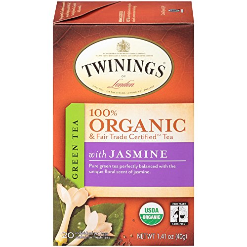Twinings Organic Tea, Green Jasmine, 20 Count Bagged Tea, 1.41 Oz, (Pack of (6 Organic Green Teas)