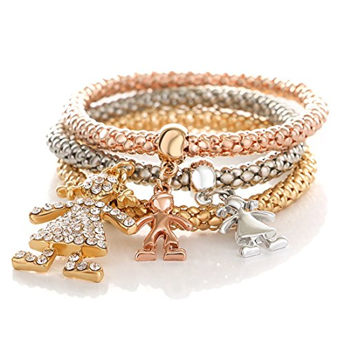 NOVADAB Trio Charm Bracelet, Bracelet for Women (Childhood Dreams Play Trio)