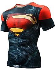 PIZOFF Unisex 3D Druck Kurzarm T-Shirt Muskelshirt Superhero Kampfanzug Thor AC109-05-XXL