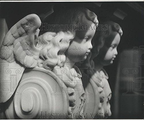 Vintage Photos Historic Images 1976 Press Photo St. Louis Cathedral Angel Statues - noa06271-8.25 x 10 in