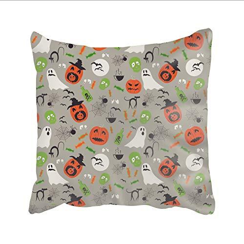 Ranhkdn Printed Pillowcase Cartoon Halloween Throw Pillow Cases with Hidden Zipper for $<!--$6.22-->