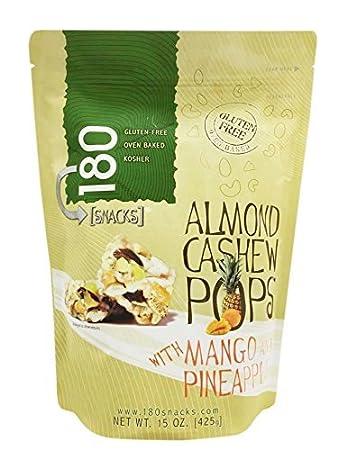 180 Snacks Whole Grain Snacks 15 oz. (Almond Cashew Pops with Mangoe &  Pineapple