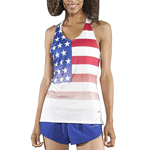 (B.O.A Boa Womens Interval Singlet (2045CP)(Us Flag, Large))