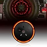 ICARS Blackend Spare Tire Cover LED Third Brake Light Red Light for 2007-2017 Jeep Wrangler JK Unlimited Rubicon Sahara