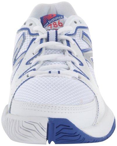 888098093469 - New Balance Women's WC786 Tennis Shoe,White/Pink,6 D US carousel main 3
